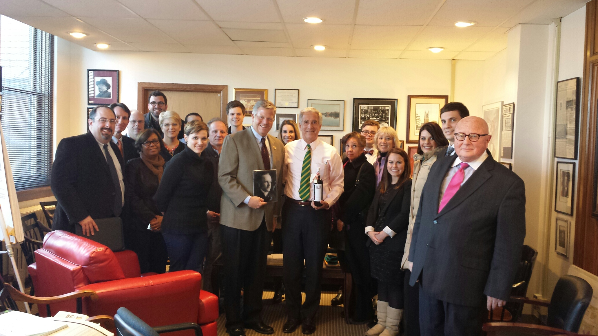 Group photo of Kane County and Congressman Hultgren's Staff